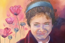 Meisje Afghanistan